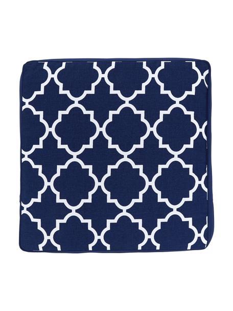 Wysoka poduszka na siedzisko Lana, Niebieski, S 40 x D 40 cm