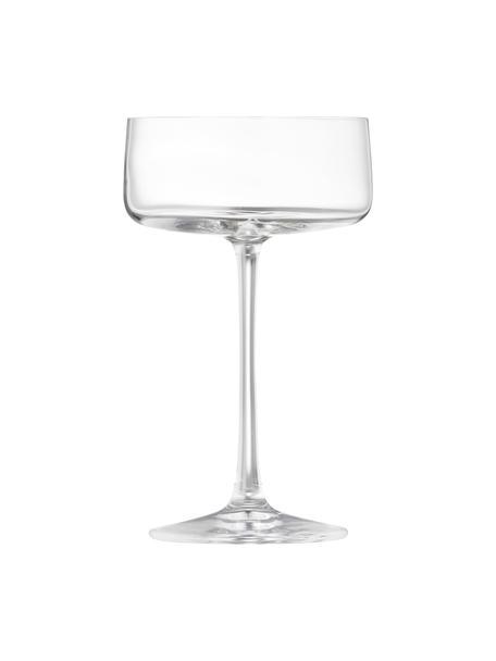 Copas pompadour de champán de cristal Ceros, 4uds., Cristal, Transparente, Ø 20 x Al 18 cm