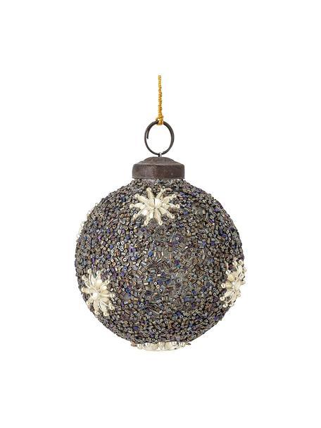 Weihnachtskugeln Milada Ø 7 cm, 2 Stück, Schwarz, Beige, Ø 7 cm