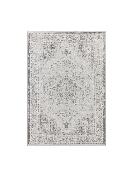In- & Outdoor-Teppich Cenon im Vintagelook, 100% Polypropylen, Creme, Grau, B 80 x L 150 cm (Größe XS)