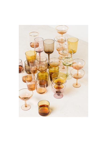 Copas de vidrio sopaldo Desigual, 6uds., Vidrio soplado, Multicolor, Ø 12 x Al 8 cm