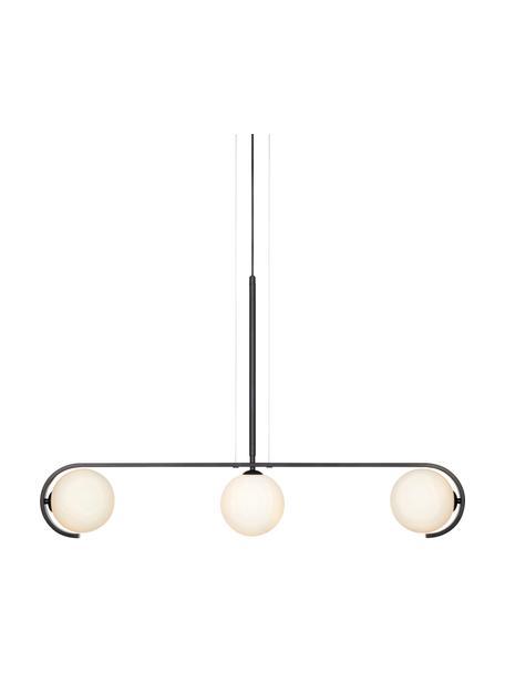 Grote, dimbare hanglamp Pals, Baldakijn: gecoat metaal, Zwart, 100 x 20 cm