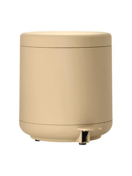 Abfalleimer Ume mit Pedal-Funktion, ABS-Kunststoff, Sandfarben, Ø 20 x H 22 cm