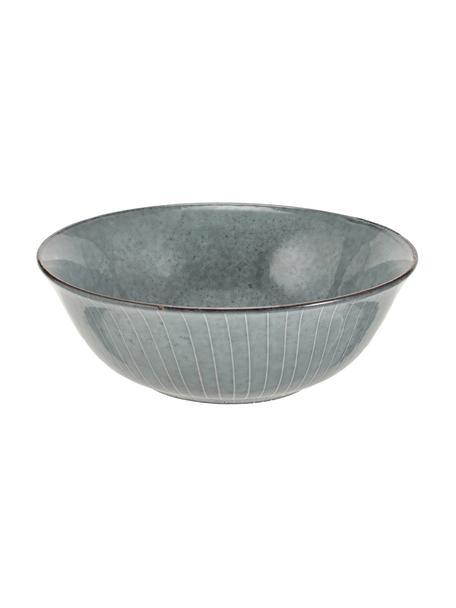 Ręcznie wykonana miska z kamionki Nordic Sea, Kamionka, Odcienie szarego, odcienie niebieskiego, Ø 21 x W 8 cm