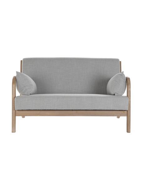 Sofa z lnu Betty (2-osobowa), Tapicerka: len, Stelaż: drewno kauczukowe, Szary, S 122 x G 83 cm