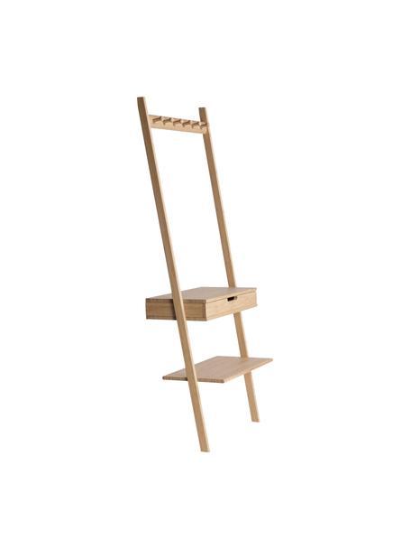Scaletta a muro con cassetto Noble, Bambù, Bambù, Larg. 70 x Alt. 180 cm