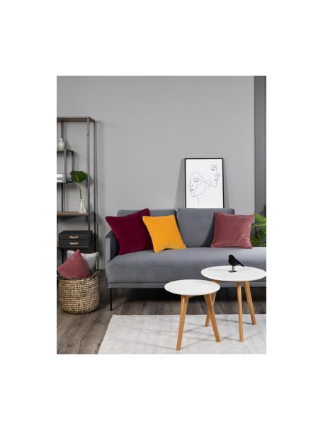 Ingelijste canvasprint opaal, Lijst: kunststof, Afbeelding: digitale print op linnen, Wit, zwart, 45 x 60 cm