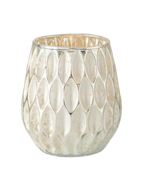 Teelichthalter Jalia, Glas, Goldfarben, Weiß, Ø 12 x H 13 cm