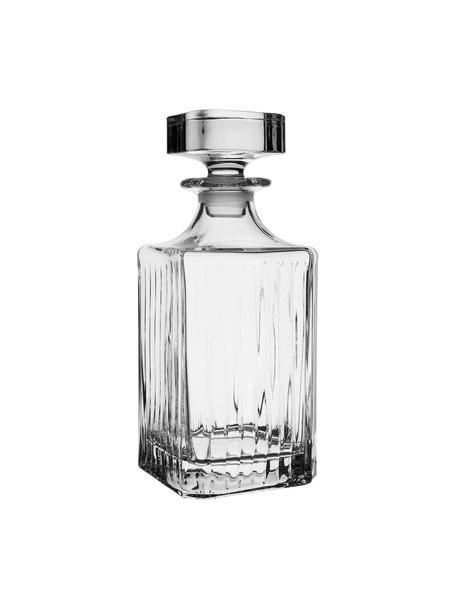 Kristalglazen karaf Timeless met groefreliëf, 750 ml, Kristalglas, Transparant, H 24 cm