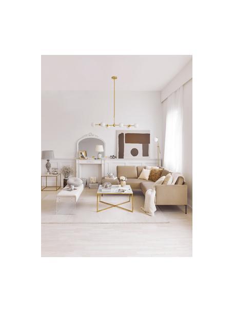 Duża lampa wisząca Aurelia, Biały, mosiądz, S 110 x W 68 cm