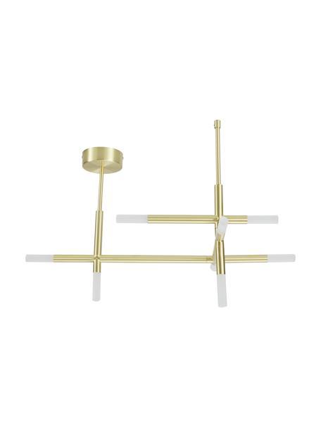 Plafón LED Gratia, Estructura: metal galvanizado, Anclaje: metal galvanizado, Dorado, An 76 x Al 50 cm