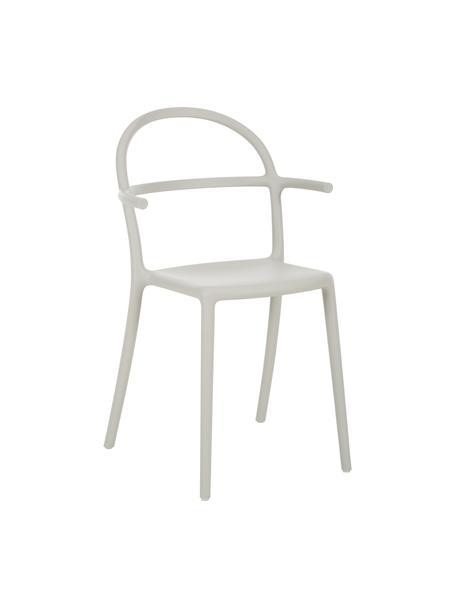 Lichtgrijze kunststoffen stoelen Generic, 2 stuks, Gemodificeerd polypropyleen, Grijs, B 52  x D 51 cm