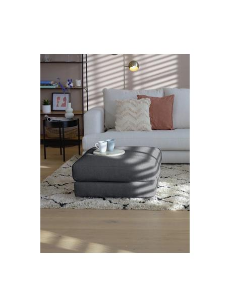 Sofa-Hocker Tribeca in Anthrazit, Bezug: 100% Polyester Der hochwe, Gestell: Massives Buchenholz, Füße: Massives Buchenholz, lack, Webstoff Anthrazit, 80 x 40 cm