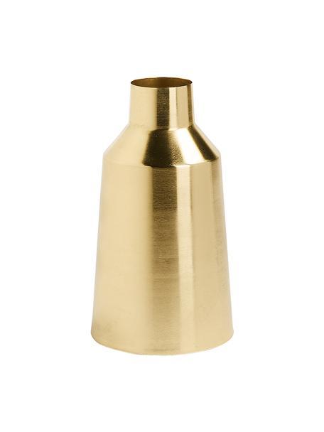 Vaso dorato in metallo Carlyn, Metallo rivestito, Ottonato, Ø 15 x Alt. 26 cm