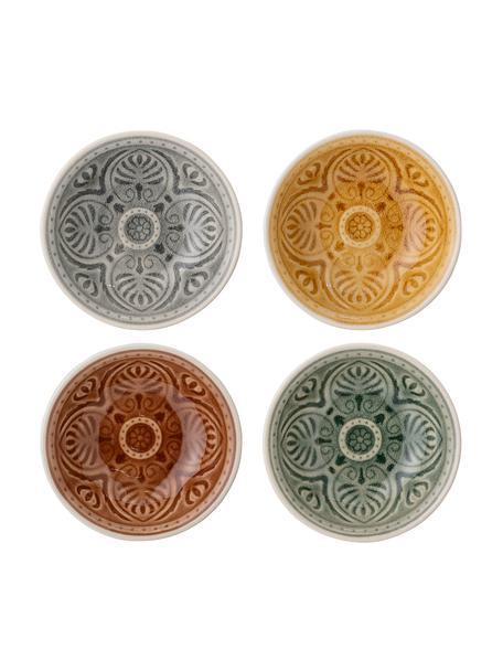 Handgemaakte Dipschalen Rani in Marokkaanse stijl, 4-delig, Keramiek, Multicolour, Ø 9 cm