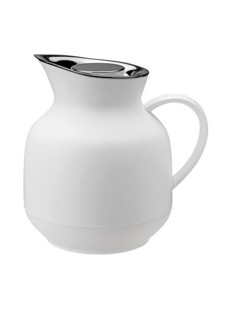 Thermoskan Amphora in mat wit/zilverkleurig, Pot: kunststof, Wit, 1 L