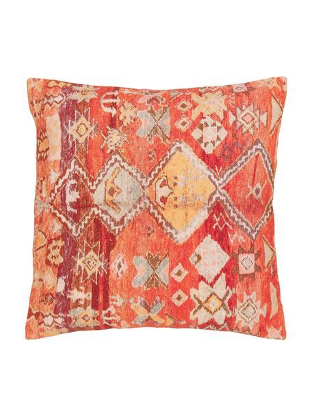 Federa arredo con fantasia etnica Dasi, 100% cotone, Multicolore, Larg. 45 x Lung. 45 cm