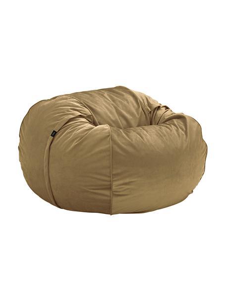 Poduszka do siedzenia Velvet, Odcienie karmelowego, Ø 110 x W 70 cm