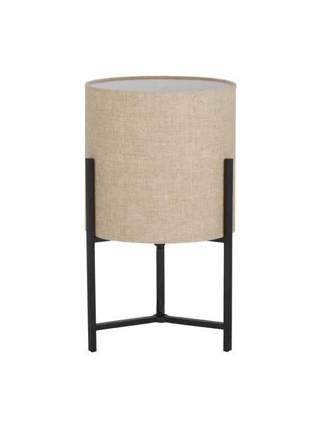 Lámpara de mesa de lino Piper, Pantalla: 85%lino, 15%terileno, Cable: cubierto en tela, Beige, Ø 22 x Al 38 cm