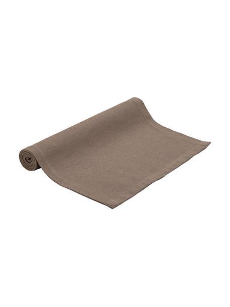Bieżnik z mieszanki bawełny Riva, 55%bawełna, 45%poliester, Taupe, S 40 x D 150 cm