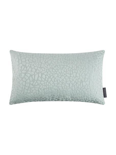 Kissenhülle Keila mit glänzender Struktur in Grün, Vorderseite: 92% Polyester, 8% Baumwol, Salbeigrün, 30 x 50 cm