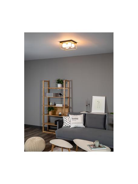Mała lampa sufitowa ze szkła opalowego Astro, Odcienie złotego, czarny, biały, S 28 x W 15 cm