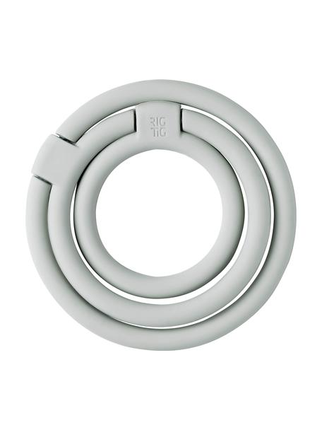 Podstawka pod gorące naczynia z silikonu Circles, Silikon, nylon, Jasny szary, Komplet z różnymi rozmiarami