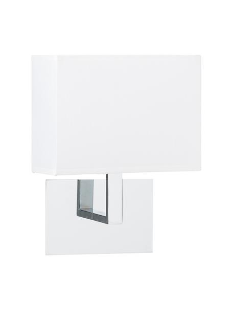 Aplique Lina, Pantalla: tela, Fijación: metal, Blanco, An 20 x Al 25 cm