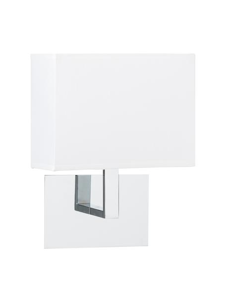 Wandleuchte Lina, Lampenschirm: Textil, Weiß, 20 x 25 cm