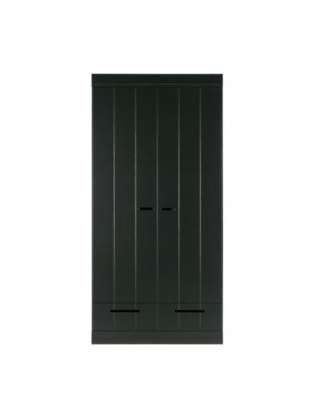 Armadio nero con 2 ante Connect, Ripiani: melamina, Nero, Larg. 94 x Alt. 195 cm