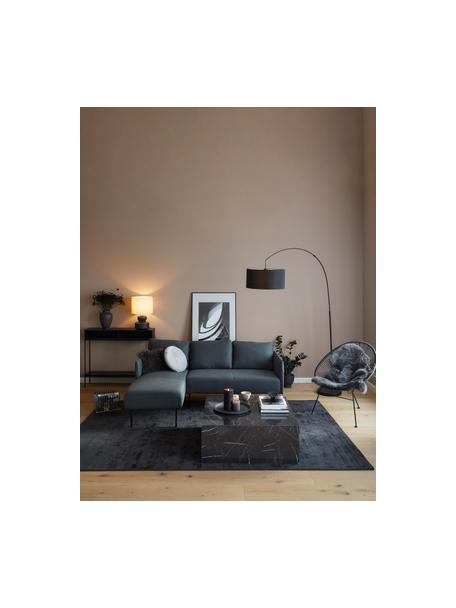 Sofa narożna z metalowymi nogami Ramira, Tapicerka: poliester Dzięki tkaninie, Nogi: metal malowany proszkowo, Antracytowy, S 192 x G 139 cm