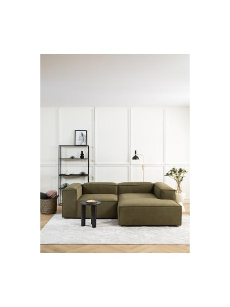 Sofá rinconera modular Lennon, Tapizado: poliéster Alta resistenci, Estructura: madera de pino maciza, ma, Patas: plástico Las patas están , Tejido verde, An 238 x F 180 cm