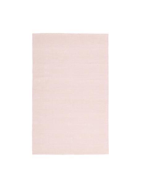Tappeto sottile in cotone tessuto a mano Agneta, 100% cotone, Rosa, Larg. 50 x Lung. 80 cm (taglia XXS)