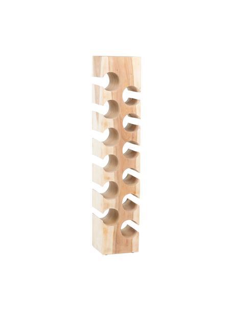 Botellero de madera de acacia Wine, para hasta 12 botellas, Madera de acacia, Marrón, An 21 x Al 100 cm