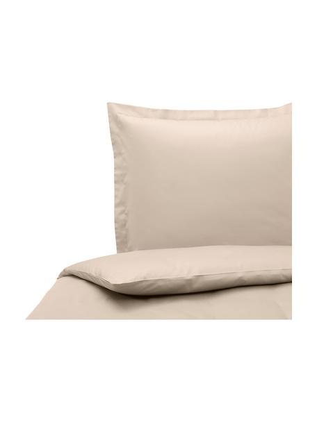 Baumwollsatin-Bettdeckenbezug Premium in Taupe mit Stehsaum, Webart: Satin, leicht glänzend Fa, Taupe, 160 x 210 cm