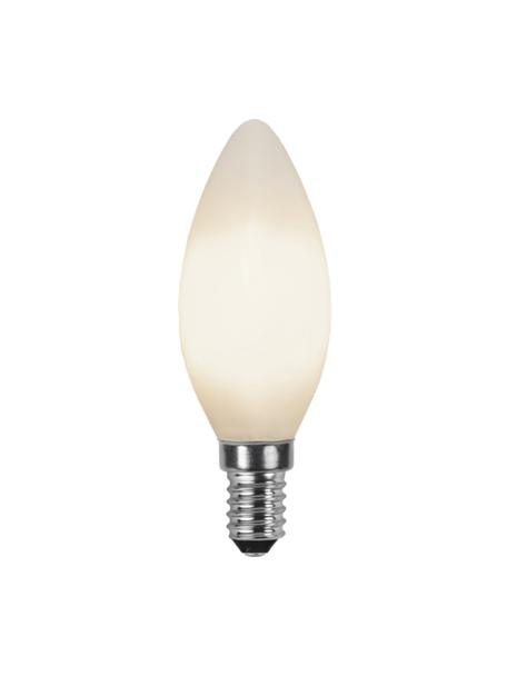 E14 Leuchtmittel, 2W, warmweiß, 6 Stück, Leuchtmittelschirm: Glas, Leuchtmittelfassung: Aluminium, Weiß, Ø 4 x H 10 cm
