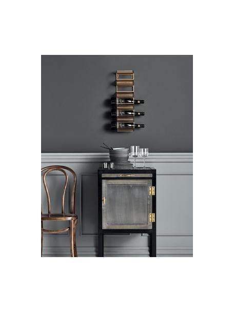 Portabottiglie da parete Iron, Metallo verniciato, Dorato, Larg. 16 x Alt. 56 cm