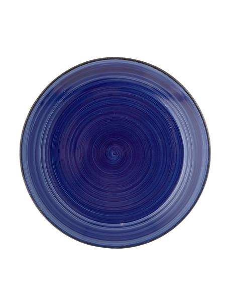 Ręcznie malowany talerz duży Baita, 6 szt., Kamionka (twardy dolomit), ręcznie malowana, Niebieski, Ø 27 cm