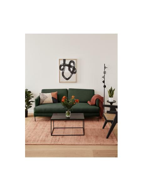 Sofa Fluente (2-Sitzer) in Dunkelgrün mit Metall-Füssen, Bezug: 100% Polyester Der hochwe, Gestell: Massives Kiefernholz, Webstoff Dunkelgrün, B 166 x T 85 cm