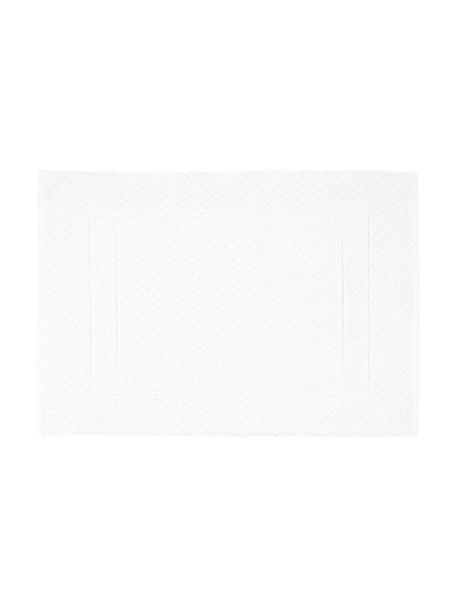 Badmat Katharina in wit, 100% katoen, zware kwaliteit, 900 g/m², Wit, 50 x 70 cm