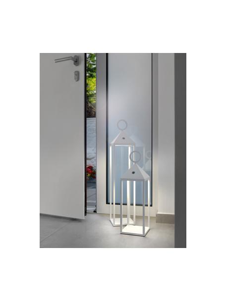 Lampada portatile e dimmerabile da esterno Cargo, Struttura: alluminio laccato, Bianco, Larg. 14 x Alt. 47 cm
