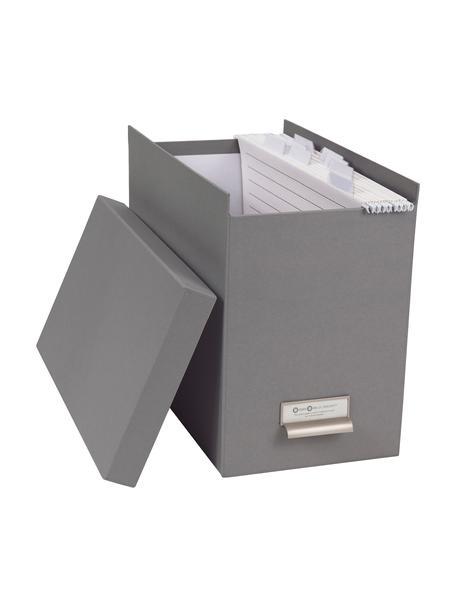 Hängeregister-Box Johan, 9-tlg., Organizer: Fester, laminierter Karto, Organizer aussen: HellgrauOrganizer innen: Weiss, 19 x 27 cm