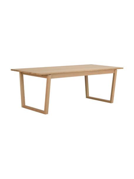 Mesa de comedor de madera de roble Colonsay, Tablero: fibras de densidad media , Beige, An 215 x F 96 cm