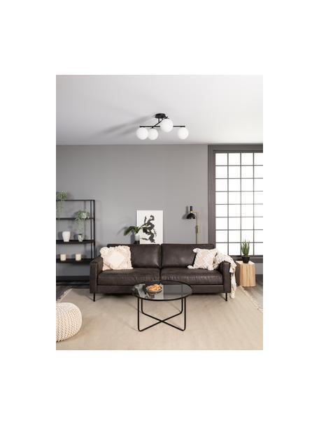 Lampada da soffitto nera Atlanta, Baldacchino: metallo verniciato a polv, Nero, Larg. 65 x Alt. 30 cm
