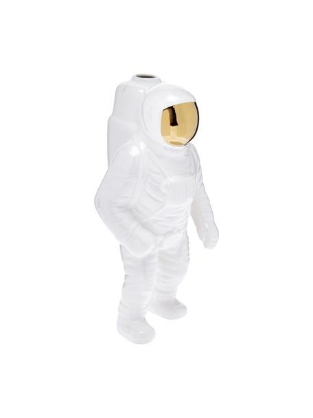 Jarrón de porcelana Cosmic Diner Starman, Porcelana, Blanco, dorado, Al 28 cm