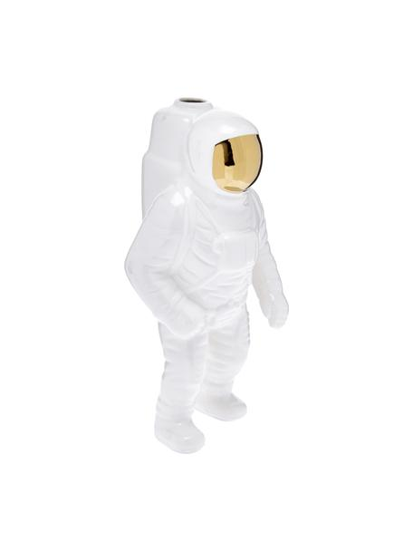 Wazon z porcelany Cosmic Diner Starman, Porcelana, Biały,odcienie złotego, 28 cm