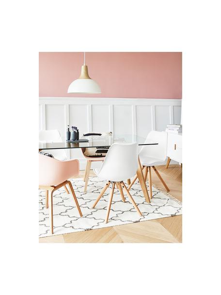 Sedia con seduta in similpelle Max 2 pz, Seduta: similpelle (poliuretano) , Seduta: materiale sintetico, Gambe: legno di faggio, Bianco, Larg. 46 x Prof. 54 cm
