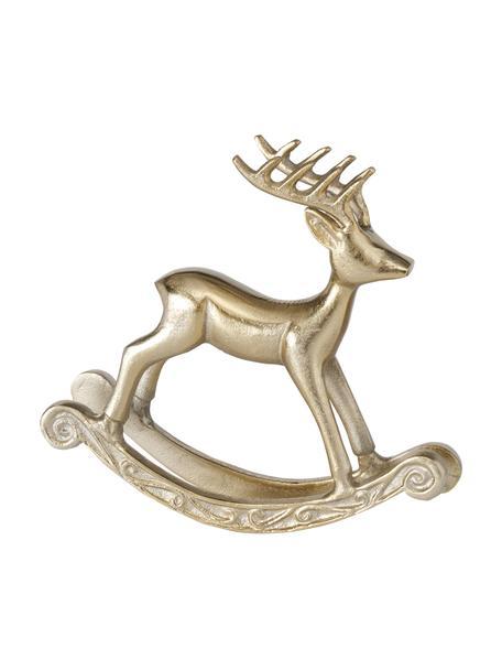 Cervo decorativo dorato Roland, larg. 21 cm, Alluminio, Dorato, Larg. 21 x Alt. 19 cm