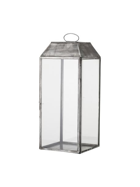 Lantaarn Gagriel van metaal, Frame: metaal, Zilverkleurig met antieke afwerking, 20 x 48 cm