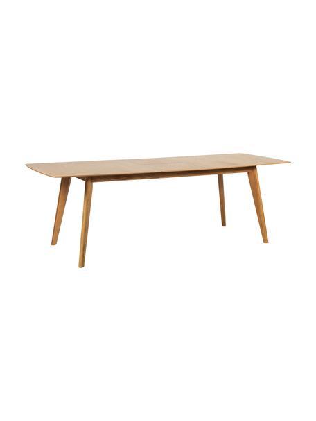 Stół do jadalni Cirrus, rozkładany, Blat: płyta pilśniowa średniej , Nogi: drewno dębowe, lakierowan, Fornir z drewna dębowego, S 190 - 235 x G 90 cm